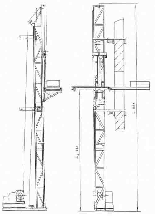 Схема мачтового подъемника.